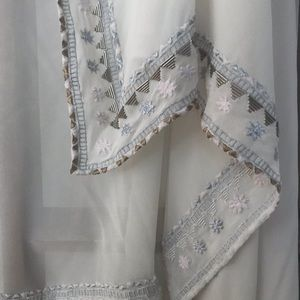 Vintage Mara Hoffman Embroidered Wedding Veil